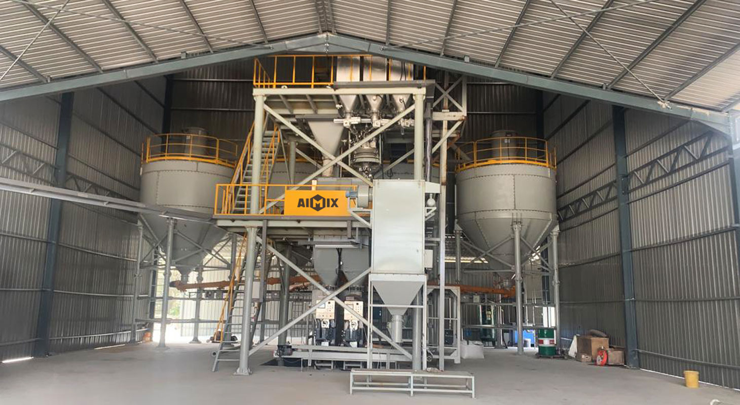 10pth wall putty making machine installed in Malaysia