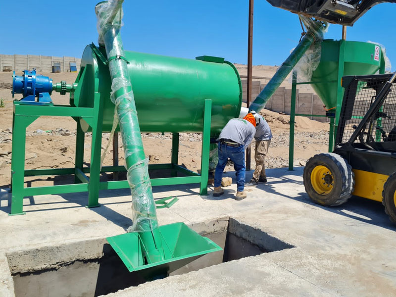 2 t dry mortar plant in Zambia