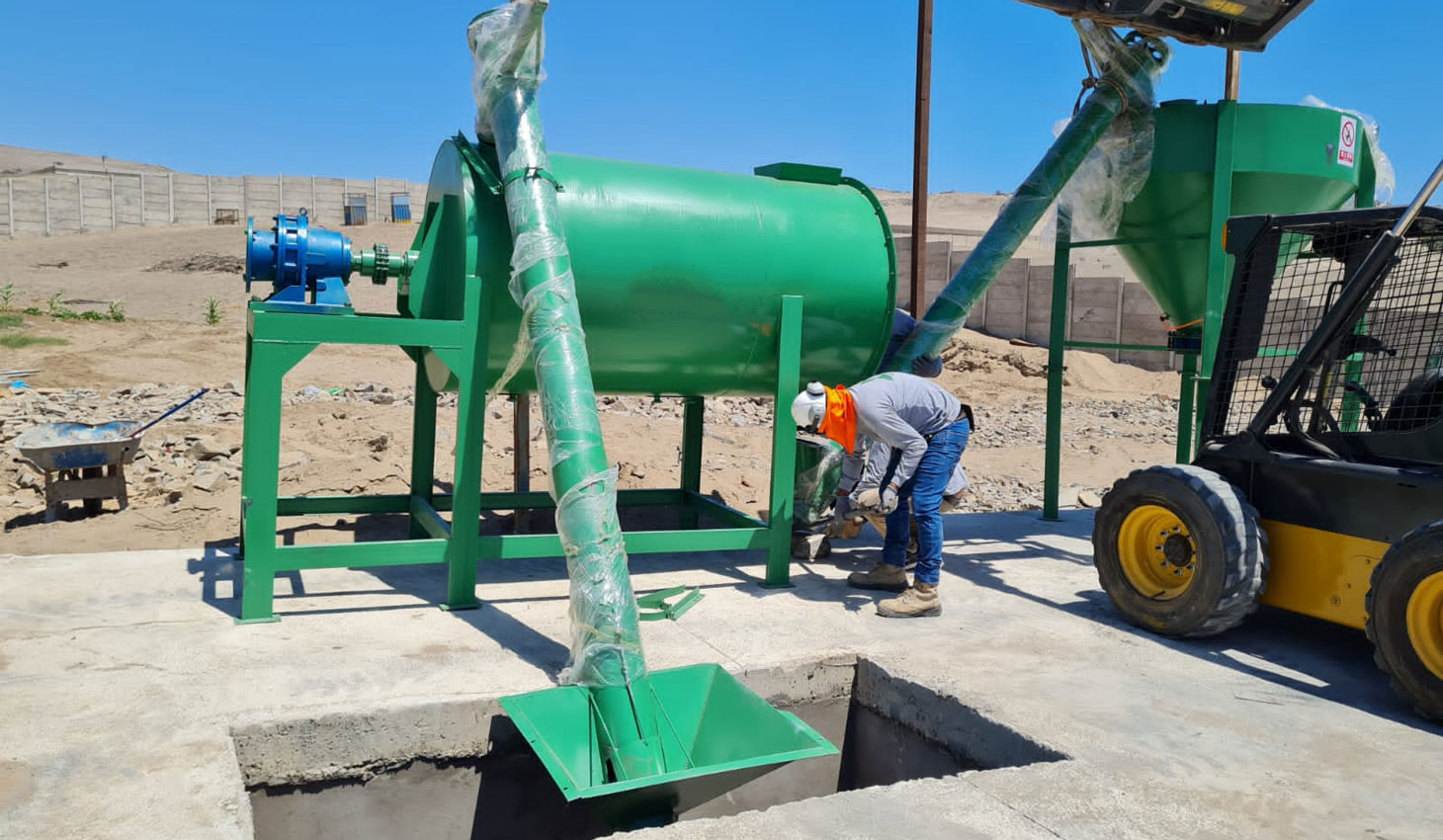 2 ton dry mortar plant installed in Zambia