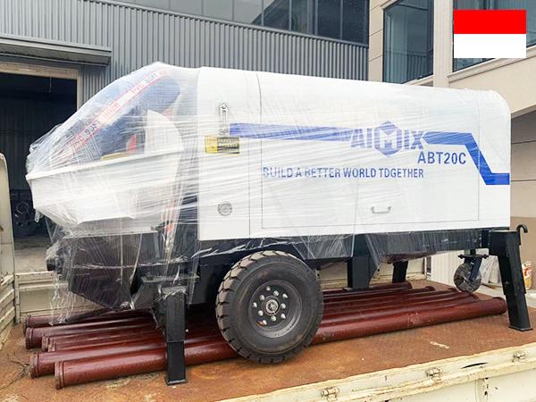 ปั๊มคอนกรีตดีเซล ABT20C ไปอินโดนีเซีย