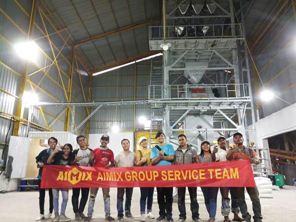 AIMIX service team in Indonesia