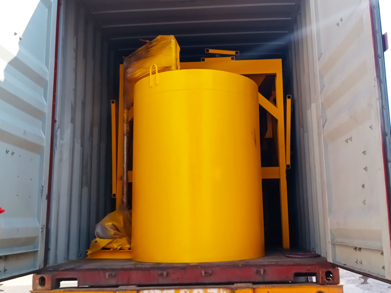 shipping picture of concrete batching plant