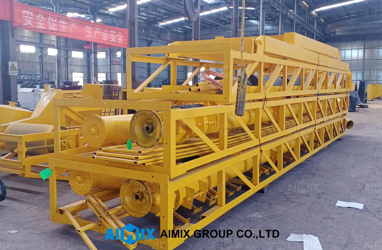shipping pictures of-AJ-90 concrete batching plant to Indonesia