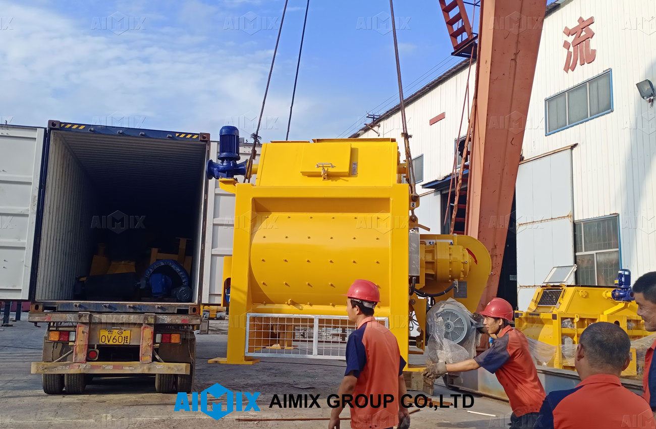shipping pictures of twin-shaft mixer to Indonesia